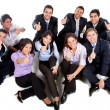 Business team - thumbs up — Stock Photo