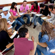 Stock Photo: Students on classroom