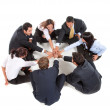 Stock Photo: Businessgroup with hands together