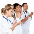 Group of doctors applauding — Stock Photo