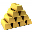 Gold bars — Stockfoto