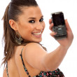 Woman with a cell phone — Stock Photo #7745698
