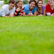 Group of friends outdoors — Stock Photo #7745715