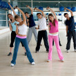Gym group exercising — Stock Photo #7745759
