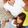 Casual couple at home — Stockfoto