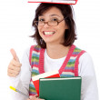 Overwhelmed female student — Stock Photo