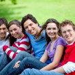 Group of friends outdoors — Stock Photo #7745899