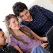 Students with a laptop — Stock Photo #7745927