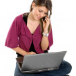 Woman with a laptop — Stock Photo #7745944