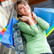 Stock Photo: Shopping woman at a mall
