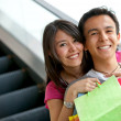 Royalty-Free Stock Photo: Happy shopping couple