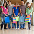 Stock Photo: Group of shopping