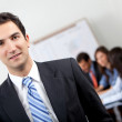 Business man in a meeting - Stock Photo