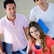 Happy group of students — Stock Photo #7746041