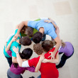Team hugging — Foto Stock