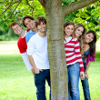Friends at the park — Stock Photo