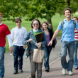 Young walking outdoors — Stock Photo