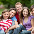 Group of friends outdoors — Stock Photo #7746090