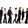 Business in line — Stock Photo