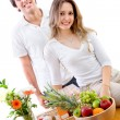 Stock Photo: Healthy eating couple
