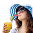 Summer woman — Stock Photo