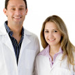 Stock Photo: Young doctors isolated