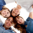Close group of friends — Stock Photo