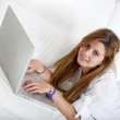 Girl with a laptop - Stock Photo