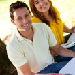 Studying outdoors — Stock Photo #7746359