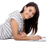 Beautiful woman studying — Stock Photo #7746380