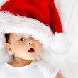 Baby with Santa hat — Stock Photo