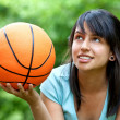 Royalty-Free Stock Photo: Girl with a basketball