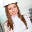 Foto Stock: Confident female architect