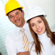Architects at the office — Stock Photo