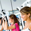 Women at the gym - Foto Stock