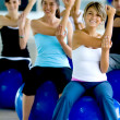 Pilates class in gym — Stock Photo #7746689