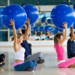 Stock Photo: Pilates class at gym