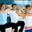 Aerobics class in a gym — Stock Photo