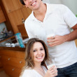Royalty-Free Stock Photo: Couple drinking milk