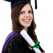 Stock Photo: Happy graduation woman