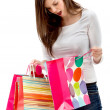 Woman with paper bags - Stock Photo