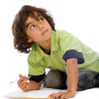 Stock Photo: child studying