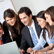 Stock Photo: Business group at office