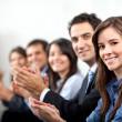 Business applauding — Stock Photo