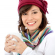 Happy winter woman — Stock Photo