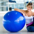 Woman with a pilates ball — Stock Photo #7747083