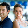 Couple at the gym — Stock Photo #7747084