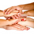 Hands together - Stockfoto