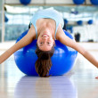 Gym woman bending backwards — Stock Photo #7747092