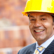 Male engineer smiling — Stock Photo